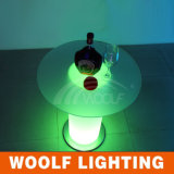 LED Round Glass Top Dining Tables