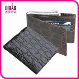 Men Genuine Leather Crocodile Wallet Short Bifold Cowhide Purse Male Card Holder
