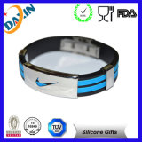 Fashion Friendship Charm Stainless Steel Rubber Silicone Power Slap Bracelets Making for Men