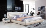 White Bed White Leather Bed