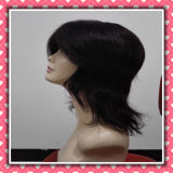 Factory Price Full Lace Human Hair Wig Medium Size Wig