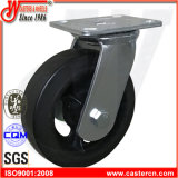 8 Inch Heavy Duty Rubber Caster with Cast Iron Wheel
