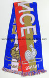 Hot Sell Promotional Acrylic Woven Scarf for Football Fans