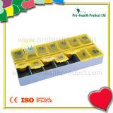 14 Compartments Plastic Pill Box Container (pH1209)