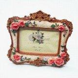 Vintage Design 3D Flower Resin Photo Picture Frame