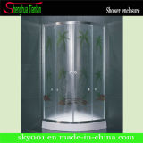 CE Approved Quadrant Simple Glass Bathroom Shower Enclosure (TL-536)