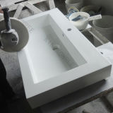 Kingkonree Artificial Stone Acrylic Solid Surface Basin / Bathroom Wash Basin / Pedestal Basin, Cabinet Basin / Bathroom Basin/ Hotel Wash Basin