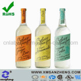 Glossy Weather Resistant Clear Private Wine Self Adhesive Bottle Stickers