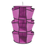 Pink and Blue Durable Hanging Closet Organizer