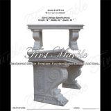 White Carrara Bench for Home Decoration Mbt-344