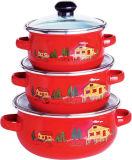 Enamel Casserole/3PCS Kitchenware Set /3PCS Cookware Set