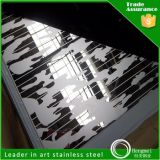0.4mm Thick Cold Rolled Mirror Etched Decorative Stainless Steel Sheet