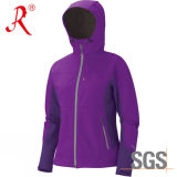 Women′s Soft Shell Jacket for Outdoor (QF-428)