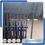 Galvanized Garden Security Wrought Iron Fence /Steel Welded Black Powder Coated Garden Fencing