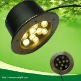 Warm White 3000k 9W Round LED Underground Lamp for Sale