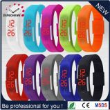 Sports Rectangle Silicone Bracelets Wrist Watches (DC-1243)
