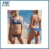 2017 OEM Sexy Lady Swimwear Bikini with Custom Prints