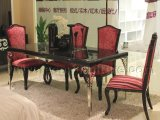 Home Furniture Dining Table and Chair with Stainless Legs (LS-218)