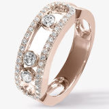 Micro Setting Jewelry 925 Silver Move Rings Fashion Gold Plating