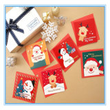 Customized Christmas Decorative Folding Paper Gift Card/ Postcard/ Greeting Card