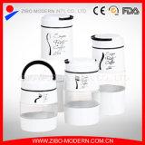 White Coating Tall Storage Jar Glass Vintage Modern Glass Jars