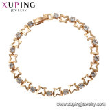 75089 Xuping New Style Best-Selling Graceful Multiply Star Gold Bracelet Imitation Jewelry