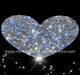 Crystal Sticker Self Adhesive Heart Czech Crystal Car Sticker 3D Car Accessories (TP-heart)