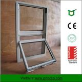 Double Glazed Aluminium Single Hung Window with 10 Years Warranty