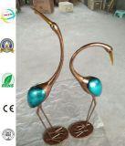 Unique Iron Crane Craft Garden of Metal Decoration
