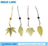 Vintage Golden Leaves Bookmark Custom Metal Bookmarks Clip