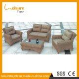 Khaki Color Outdoor Rattan Sofa Set Used Hotel Furniture