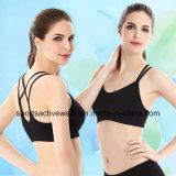 2016 Hot Selling New Design Lady′s Cotton Fashion Solid Push up Bra Sports Bra