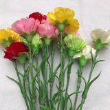 Carnation Artificial Flowers Silk Flower Bridal Headdress DIY Materials Handmade Decorative Flower Mother′s Day Gifts