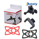 Adjustable Bicycle Mount Mobile Phone Holder with Silicon Strap