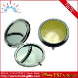 PU Round Singel Side Cosmetic Mirror in Pocket