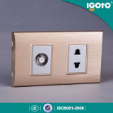 Igoto South American 2 Gang 2pin Wall Switch and Socket