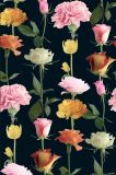 Rose/ Carnation Flower Printed Polyester Garment Fabric