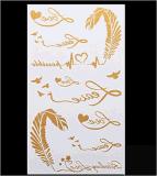 Stylish Temporary Metallic Tattoo Stickers Art Tattoo