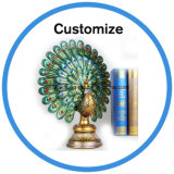 Decorative Poly Resin Craft Peacock for Wedding