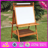 2017 Wholesale Kids Wooden Double Sided Ease, Portable Children Wooden Double Sided Easel, Best Wood Double Sided Easel W12b104
