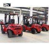 Rough Terrain Diesel Forklift Truck, 4WD with Capacity 2500kg