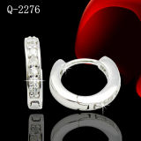 Factory Hotsale Sterling Silver Jewelry Huggies Earring with CZ