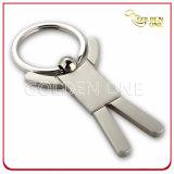 Sport Theme Matt Nickel Plated Metal Keychain Gift