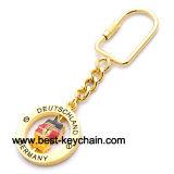 Spinner Souvenir Germany Map Gift Gold Metal Key Chain (BK52258)