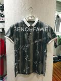 Leaves Splatter Pirnt fashion Man Polo Shirt with Stand Collar in Man Sports Wear Clothes Fw-8651