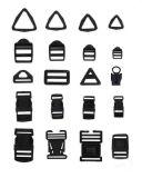 Plastic Black Buckle for Bag (NCBT-9)