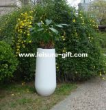 Decorative White Fiberglass Flower Pot (Fo-268)