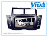 Two DIN GPS Car DVD for Toyota Yaris (Black&Silver)