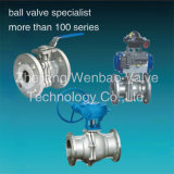Investment Casting 2PC Flange Ball Valve with Actuator