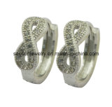925 Silver Jewelry Infinity Huggies Earring